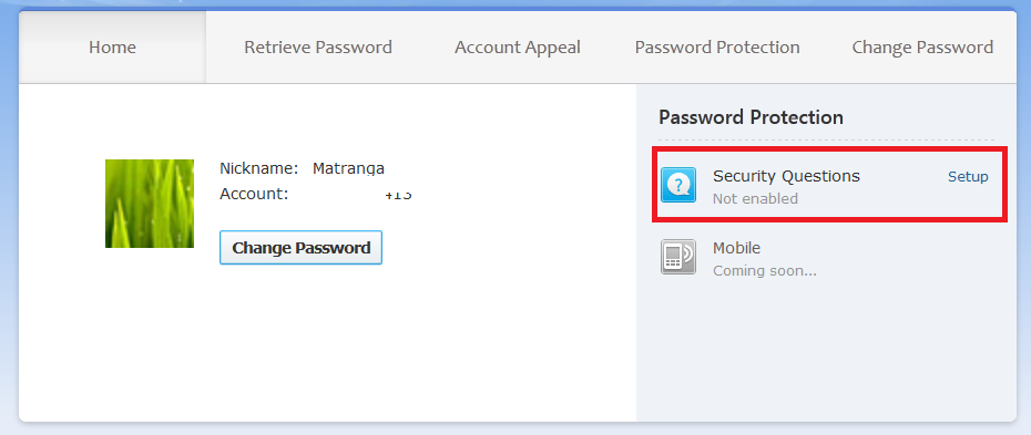 How to Set ID Protection for my Account?   QQ International